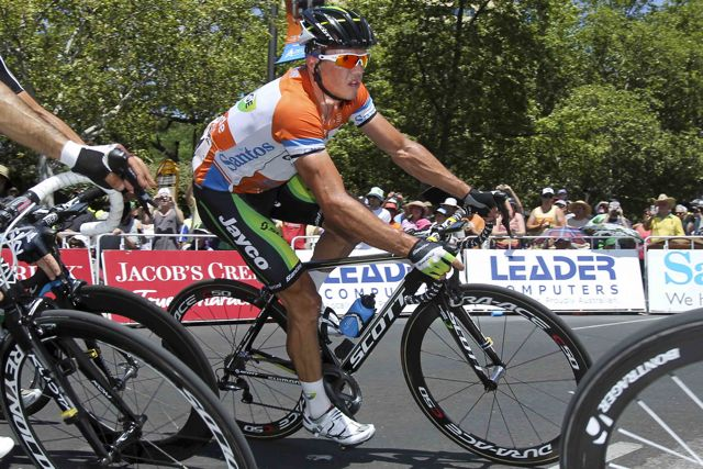 Cycling: Tour Down Under 2012 / Stage 6/ Simon GERRANS (Aus) Orange Jersey/ Adelaidel (90 Km)/ TDU / Etape Rit /(c)Tim De Waele
